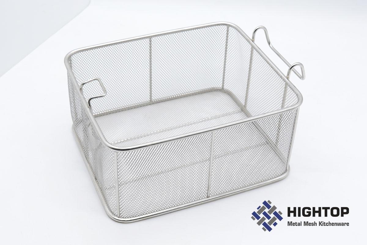 stainless steel pasta basket