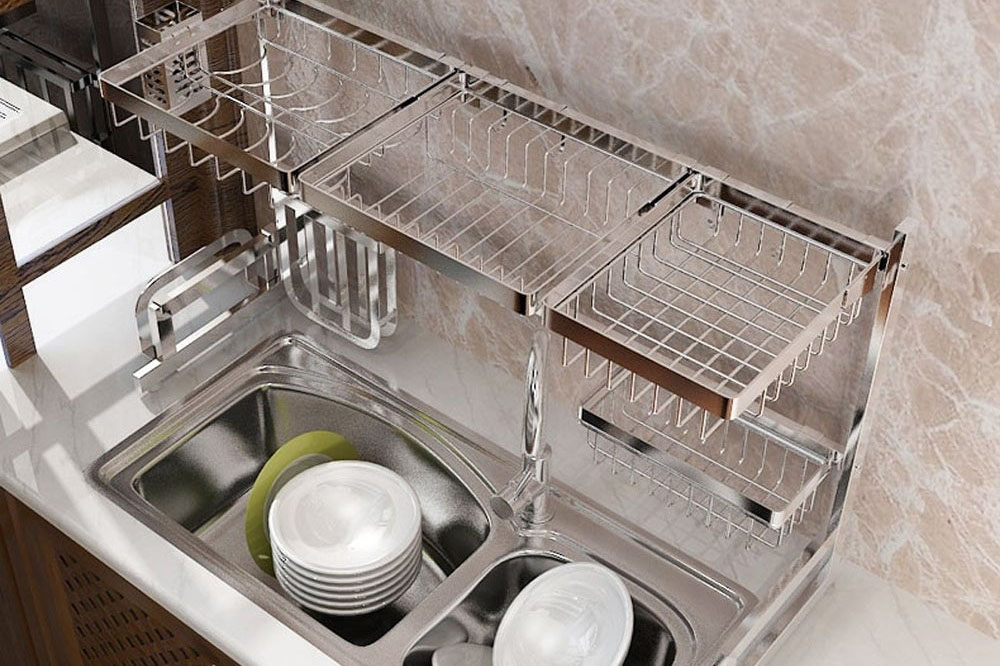 over sink dish drainer